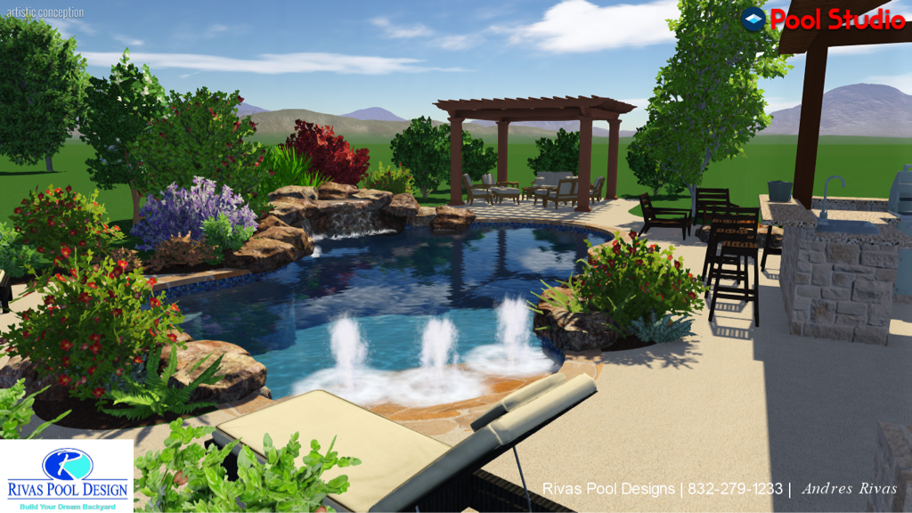 Swimming pools installation houston tx for Pool design questions